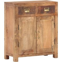 Sideboard 65x30x75 cm Solid Rough Mango Wood - YOUTHUP
