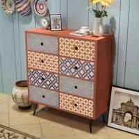 Zqyrlar - Sideboard 8 Drawers Brown - Brown