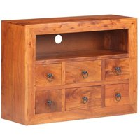 Youthup - Sideboard 80x30x60 cm Solid Acacia Wood