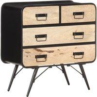 vidaXL Sideboard 80x35x80 cm Solid Mango Wood - Black