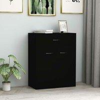 Betterlifegb - Sideboard Black 60x30x75 cm Chipboard35640-Serial number