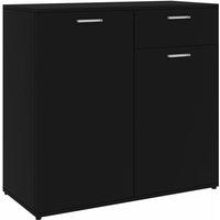 Sideboard Black 80x36x75 cm Chipboard - VIDAXL