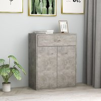 Sideboard Concrete Grey 60x30x75 cm Chipboard - Grey