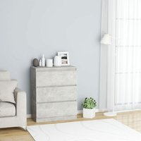 Zqyrlar - Sideboard Concrete Grey 60x35x76 cm Chipboard - Grey