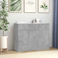 Zqyrlar - Sideboard Concrete Grey 88x30x70 cm Chipboard - Grey