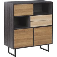 Beliani - 2 Drawer Sideboard Dark Wood MAINE