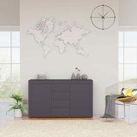 Zqyrlar - Sideboard Grey 120x36x69 cm Chipboard - Grey