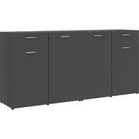 Sideboard Grey 160x36x75 cm Chipboard - VIDAXL