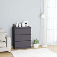 Sideboard Grey 60x35x76 cm Chipboard - Grey
