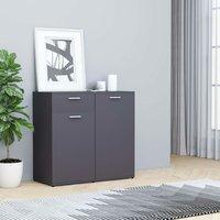Sideboard Grey 80x36x75 cm Chipboard