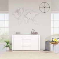 Sideboard High Gloss White 120x36x69 cm Chipboard - White - ZQYRLAR