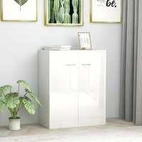 Betterlifegb - Sideboard High Gloss White 60x30x75 cm Chipboard35654-Serial number