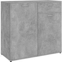 vidaXL Sideboard Chipboard Concrete Grey 80x36x75 cm