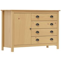Sideboard Hill Range 120x40x80 cm Solid Pine Wood - VIDAXL