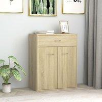 Zqyrlar - Sideboard Sonoma Oak 60x30x75 cm Chipboard - Brown