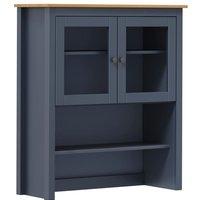 vidaXL Sideboard Top Hill Range 90x33x100 cm Solid Pine Wood Grey - Grey
