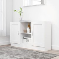 Sideboard White 120x30.5x70 cm Chipboard - YOUTHUP