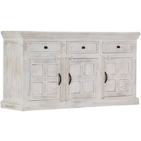 Youthup - Sideboard White 140x40x74 cm Solid Mango Wood