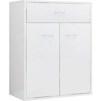 vidaXL Sideboard High Gloss White 60x30x75 cm Chipboard - White