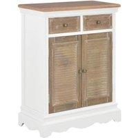 vidaXL Sideboard White 60x30x80 cm Solid Wood - White