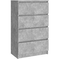 vidaXL Sideboard 60x35x98.5 cm Chipboard Concrete Grey - Grey