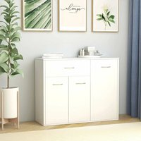vidaXL Sideboard White 88x30x70 cm Chipboard - White
