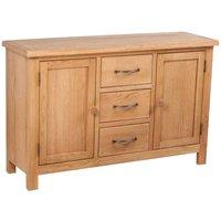 Zqyrlar - Sideboard with 3 Drawers 110x33.5x70 cm Solid Oak Wood - Brown