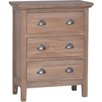 Sideboard with 3 Drawers 60x30x75 cm Solid Teak Wood