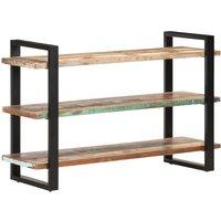 Sideboard with 3 Shelves 120x40x75 cm Solid Reclaimed Wood - Multicolour - Vidaxl