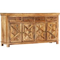 Sideboard with 4 Drawers 160x40x85 cm Solid Mango Wood - YOUTHUP
