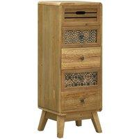 Sideboard with 5 Drawers Brown 37x30x97.5 cm Wood - Brown - Vidaxl