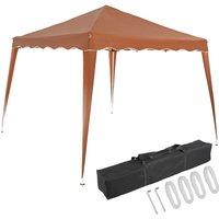 Pavilion 3x3m UV Protection 50+ Waterproof Foldable incl. Bag Folding Pavilion Capri Party Tent Garden Pop Up Tent Light Brown