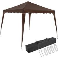 Pavilion 3x3m UV Protection 50+ Waterproof Foldable incl. Bag Folding Pavilion Capri Party Tent Garden Pop Up Tent Dark Brown