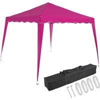 Pavilion 3x3m UV Protection 50+ Waterproof Foldable incl. Bag Folding Pavilion Capri Party Tent Garden Pop Up Tent Pink