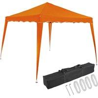 Pavilion 3x3m UV Protection 50+ Waterproof Foldable incl. Bag Folding Pavilion Capri Party Tent Garden Pop Up Tent Orange