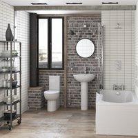Signature Tikal Bathroom Suite Close Coupled Toilet and Basin 535mm - 1 Tap Hole