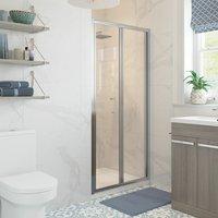 Classix Bi-Fold Shower Door 760mm Wide - 5mm Glass - Signature