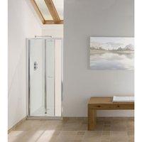 Contract Bi-Fold Shower Door 1830mm H x 1000mm W - 6mm Glass - Signature