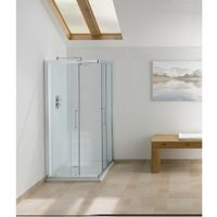 Contract Corner Entry Shower Enclosure 1830mm H x 750mm W - 6mm Glass - Signature