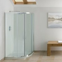 Contract Offset Quadrant Shower Enclosure 1000mm x 800mm - 6mm Glass - Signature
