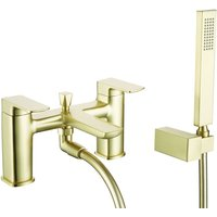 Finissimo Bath Shower Mixer Tap with Shower Kit and Bracket - Brushed Brass - Signature