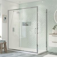 Inca6 Sliding Shower Enclosure 1200mm x 900mm Excluding Tray - 8mm Glass - Signature