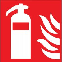 Signs Self-Sticking 100X100Mm Fire Extinguisher