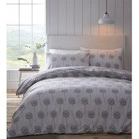 Silhouette Grey Super King Size Duvet Cover Set Bedding Quilt Bed Set