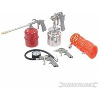 Silverline - Air Tools and Compressor Accessories Kit 5pce -