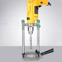 Simple Electric Drill Bracket Adjustable Angle Positioning Holder Pure Steel Guide Stand - ASUPERMALL