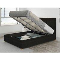 Aspire - Sinatra Ottoman Upholstered Bed, Kimiyo Linen, Charcoal - Ottoman Bed Size Superking (180x200)
