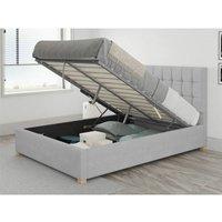 Aspire - Sinatra Ottoman Upholstered Bed, Kimiyo Linen, Silver - Ottoman Bed Size Superking (180x200)