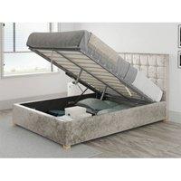 Sinatra Ottoman Upholstered Bed, Mirazzi Velvet, Pearl - Ottoman Bed Size Single (90x190)