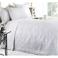 Single Bed Mafalda White Bedspread Portuguese Style Sofa Bed Throw Mix Cotton